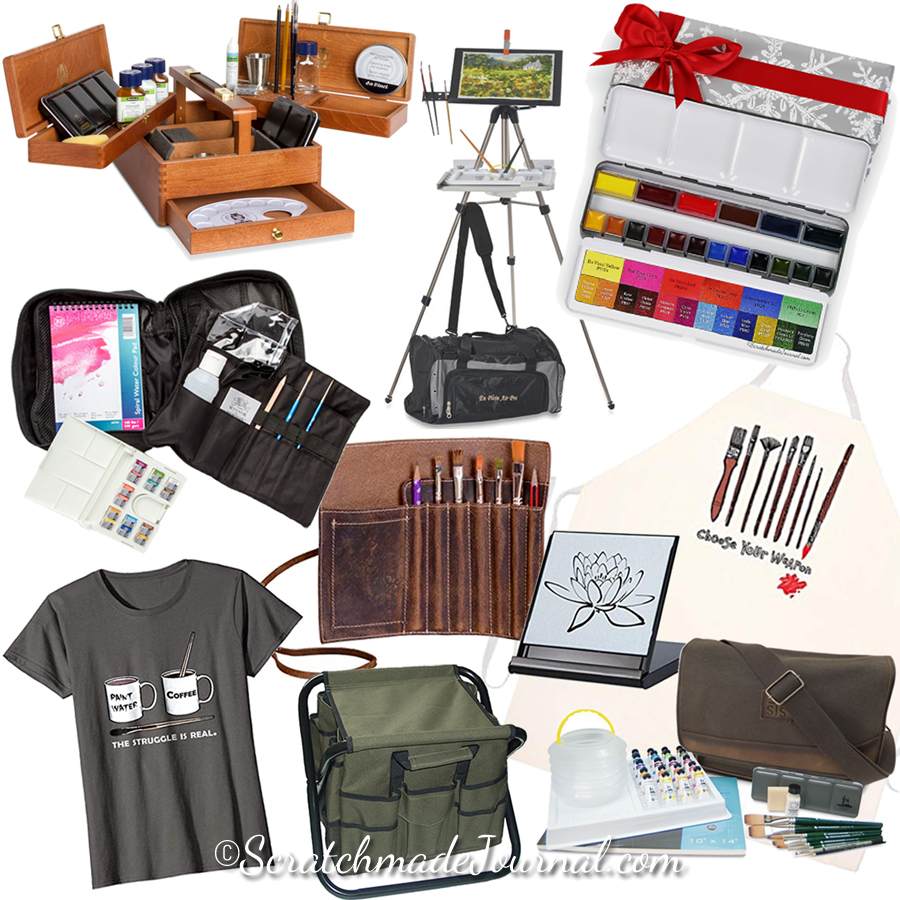 Top 10 Watercolor Gifts for Artists PLUS many more art gift ideas! - ScratchmadeJournal.com