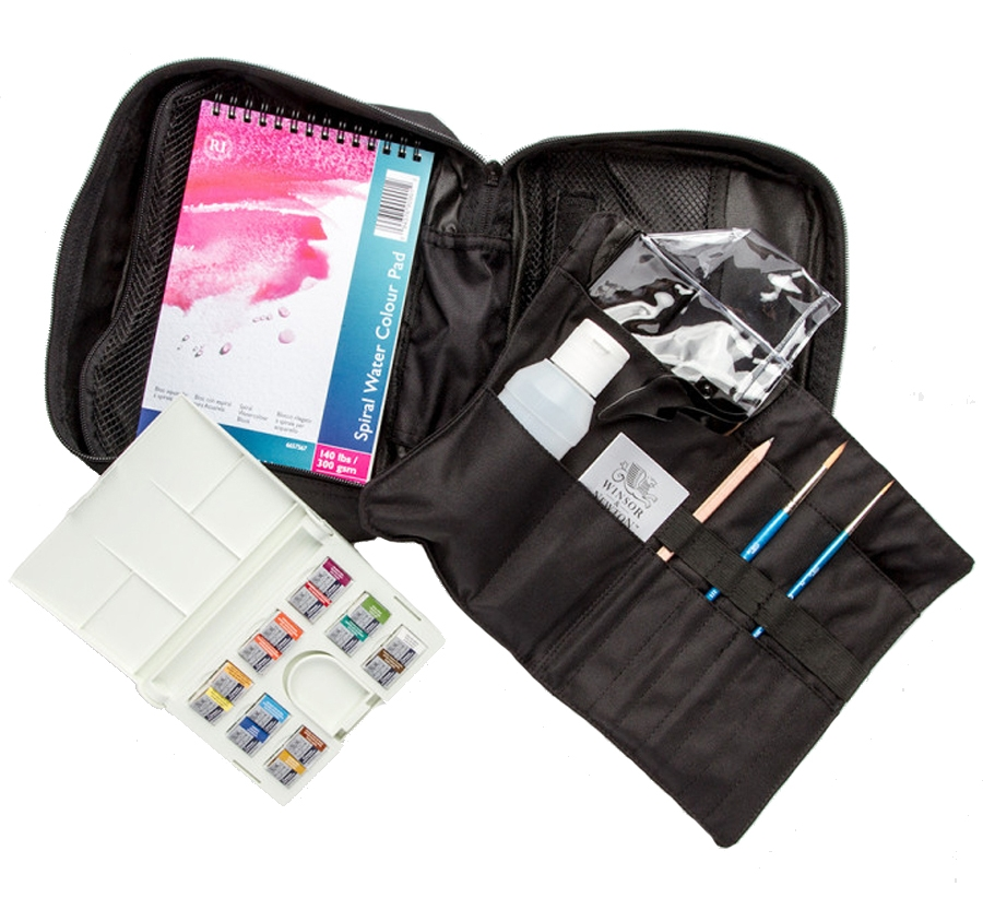 The Cotman Travel Bag is a top 10 watercolor gift for artists - ScratchmadeJournal.com