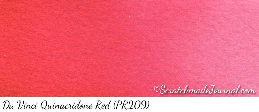 Da Vinci Quinacridone Red (PR209) watercolor swatch - ScratchmadeJournal.com