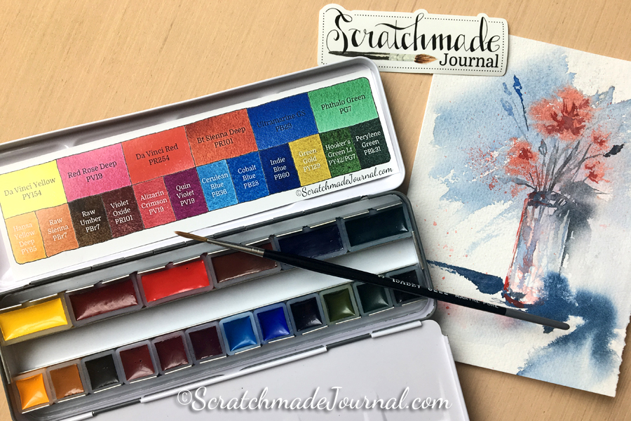 Scratchmade Watercolor Palette Review & Giveaway at Doodlewash! - ScratchmadeJournal.com