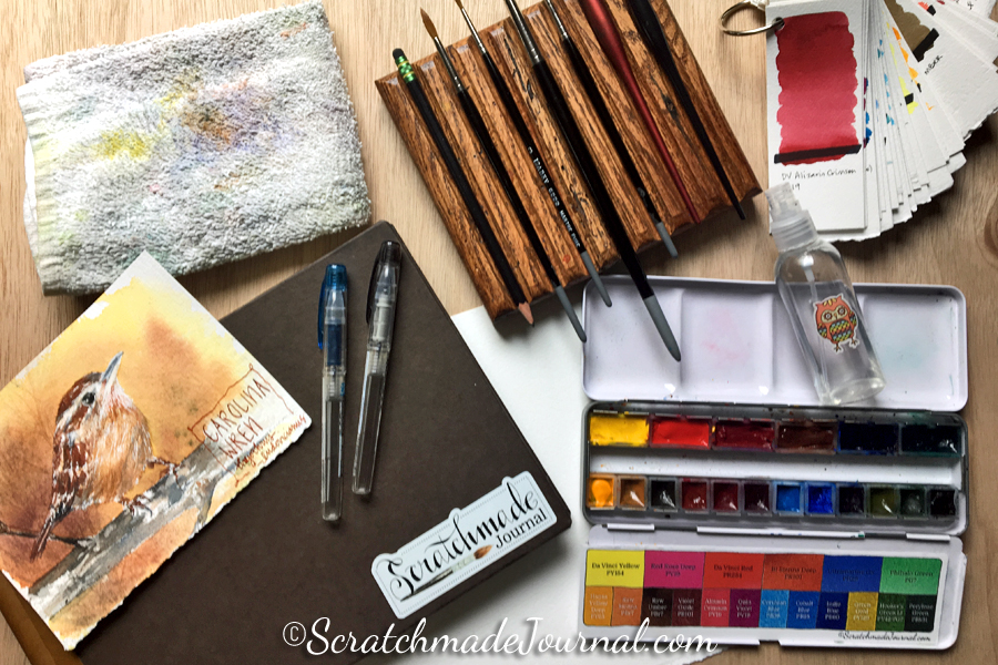 A list of my favorite sketching & watercolor supplies - ScratchmadeJournal.com