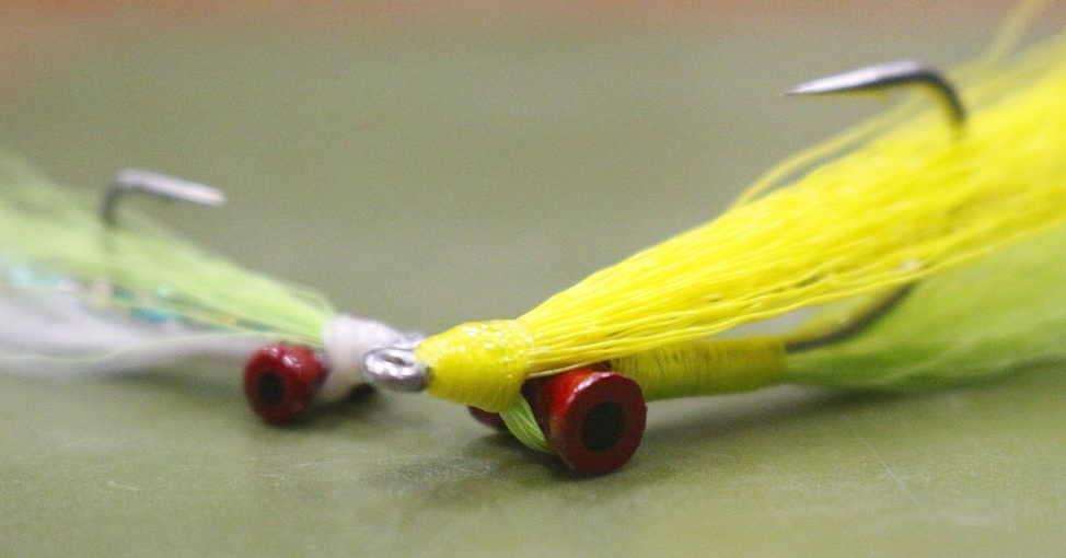 Brightly colored Clouser Minnows are a great searching pattern