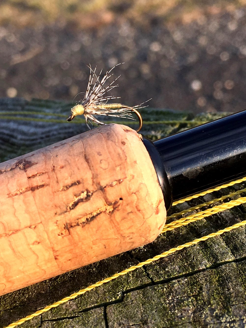 A tenkara rod is the perfect tool for presenting soft hackles.