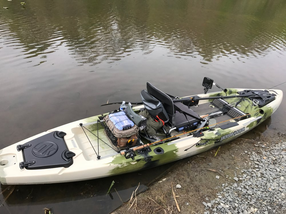 The Jackson Mayfly was built with the fly fisher in mind.  This kayak is loaded with fly fishing specific features.