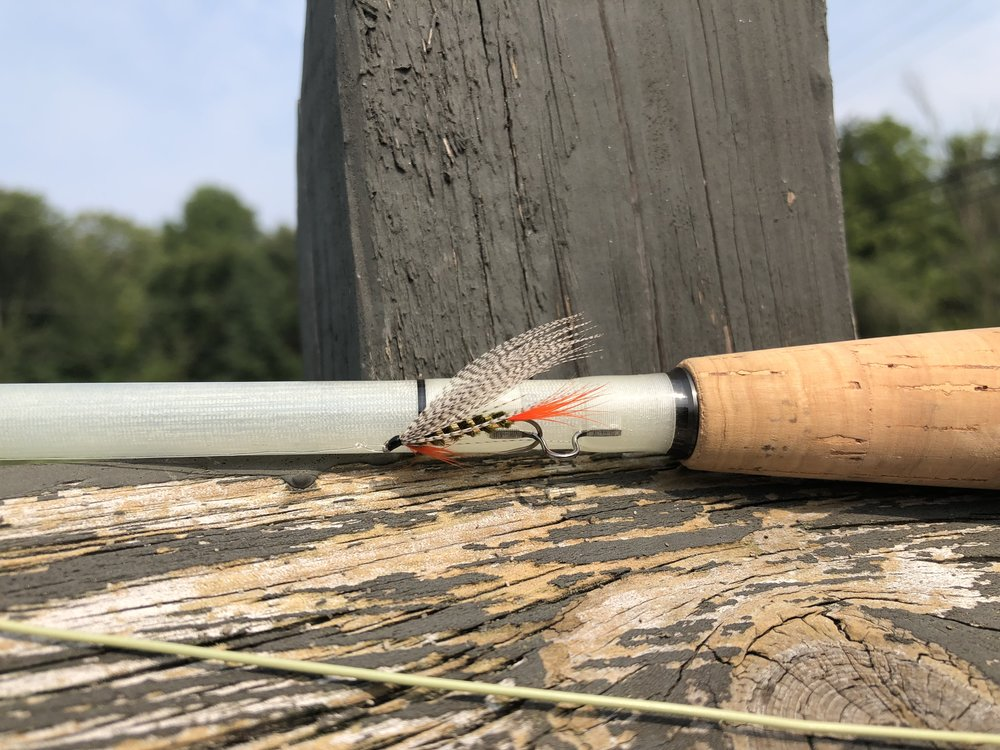 Ready for action! The Stayner Ducktail is a good pattern for big, late summer bluegills.