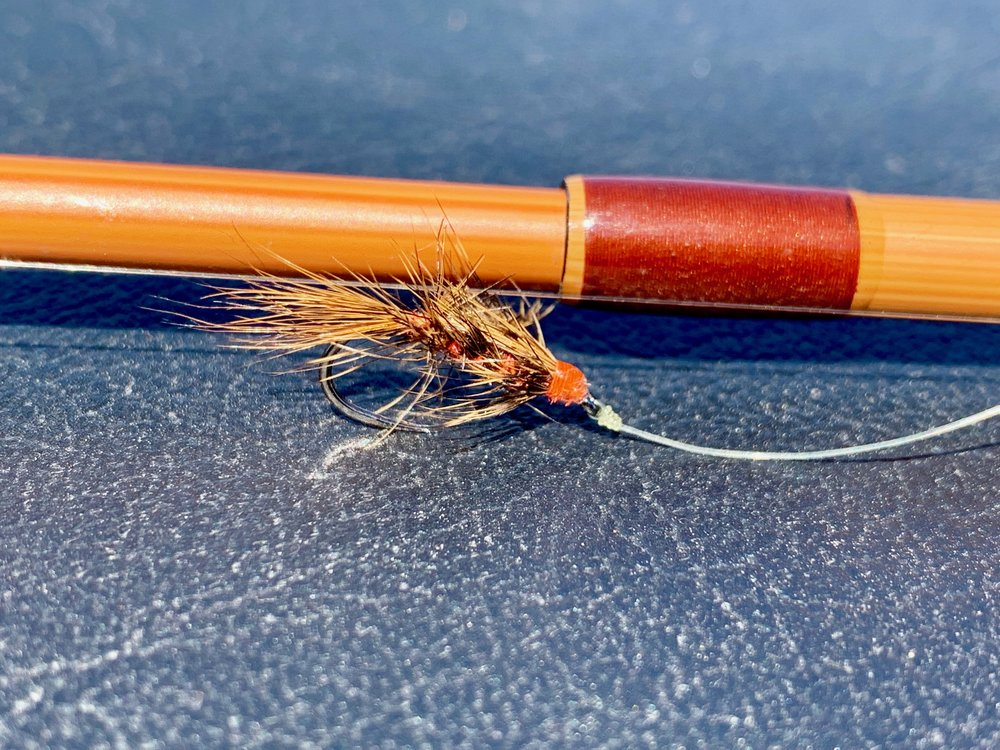 """The Spring Wiggler, pint sized for panfish! This one has a """"well chewed"""" appearance, always a sign of a good day on the water!"""