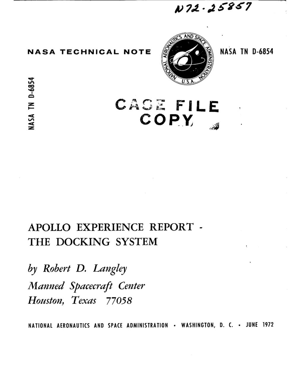 Original Docking System Report