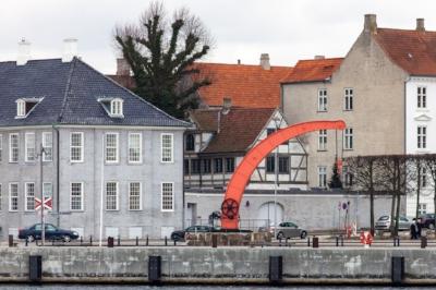 Fairbairn crane in Helsingor, Denmark. By  Håkan Dahlström