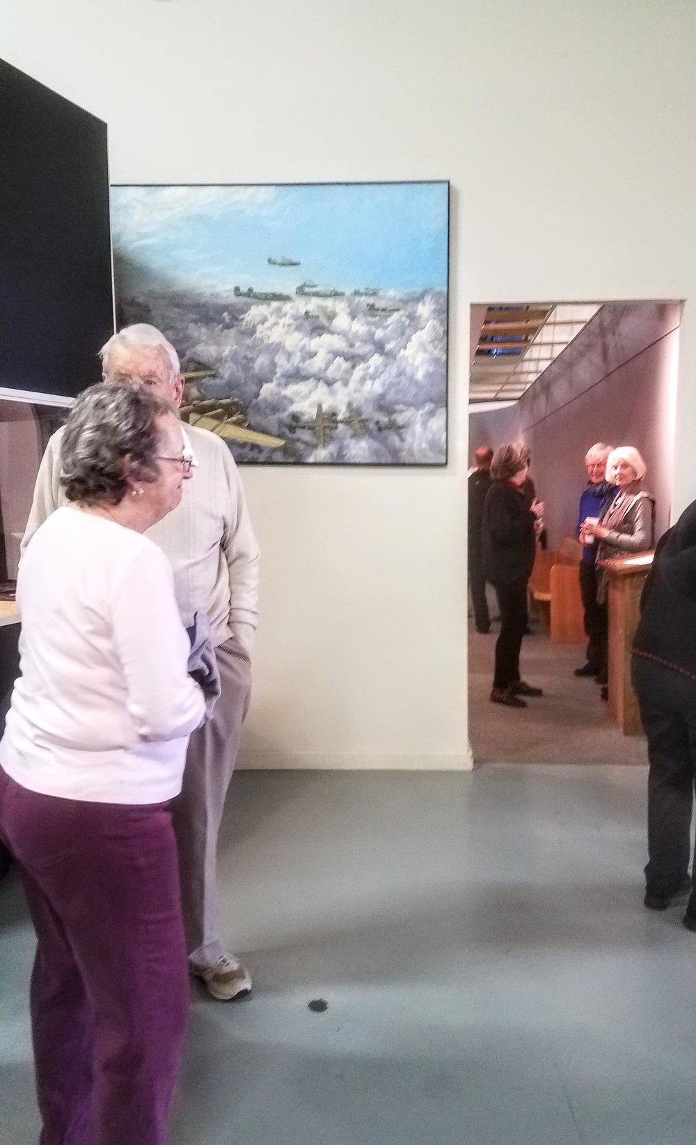 Guests at art reception