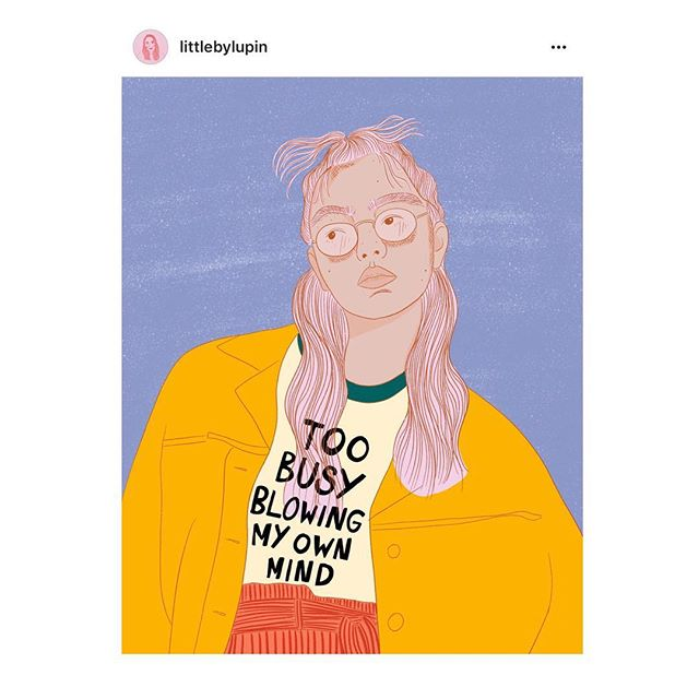 Honestly, I'm just too busy rn 🤯 . illustration by lovely @littlebylupin