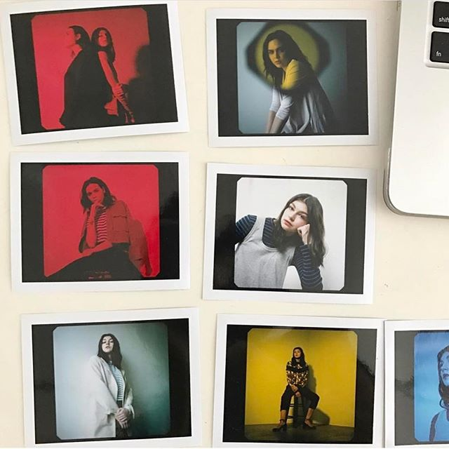 Polaroid outtakes from editorial with @kmarcelo @cupcakemagic @nataliadotcom @kyliecochran. . hair + makeup by yours truly 👩🏼‍🎨