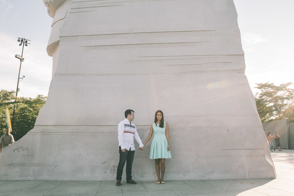 engagement session washington dc mall martin luther king memorial.jpg