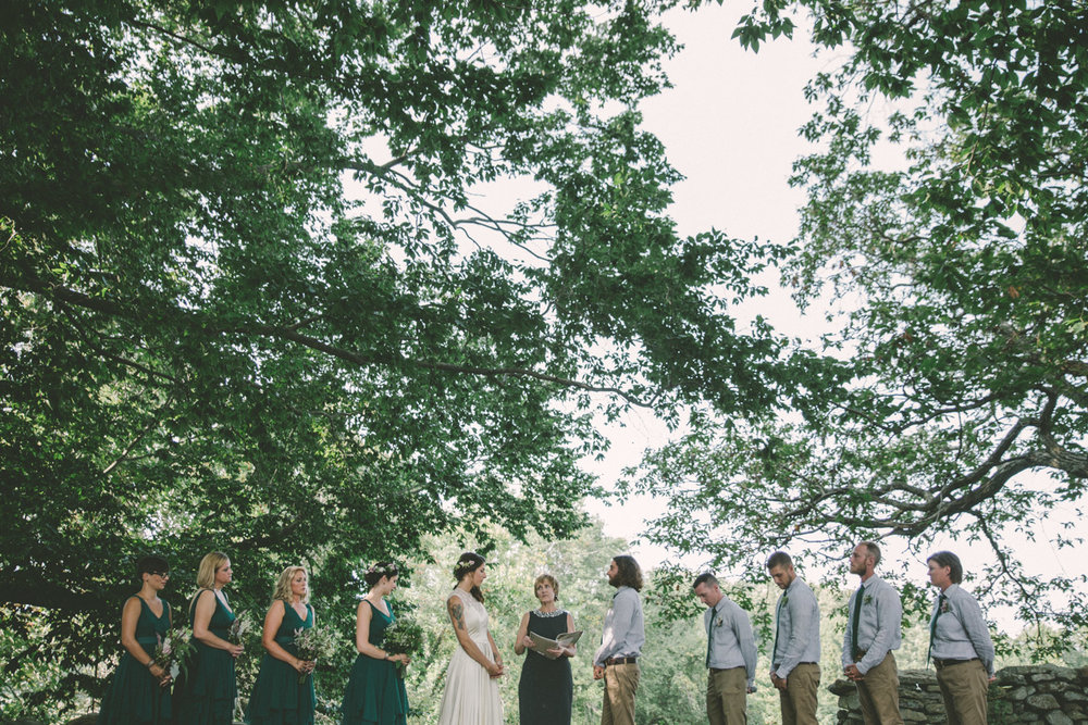 bridal party bride and groom at wedding ceremony.jpg