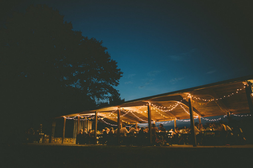 night steppingstone museum rustic wedding twinkle lights.jpg