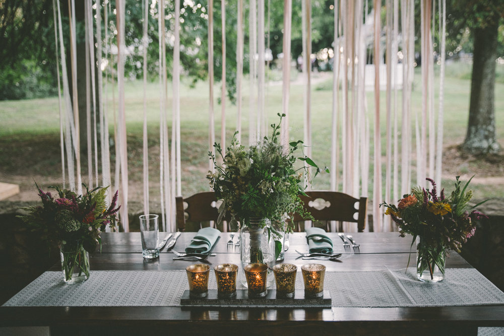 rustic wedding decoration bride and groom table.jpg