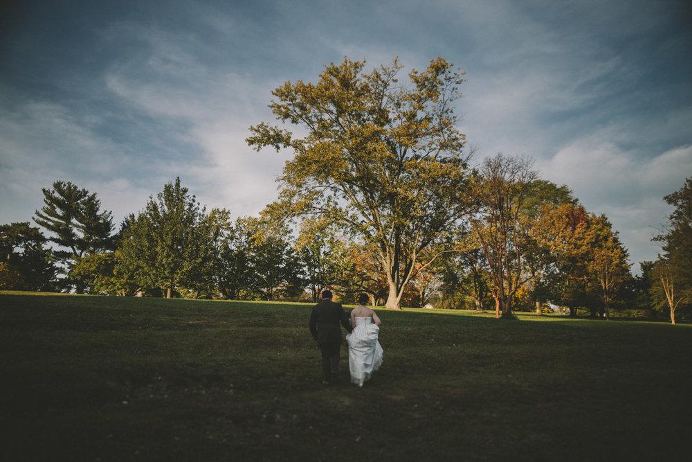 cylburn arboretum baltimore wedding bride and groom walking.jpg