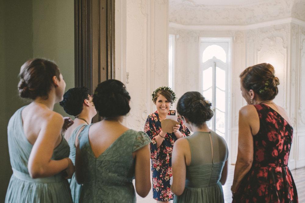cylburn arboretum baltimore wedding bride with bridesmaids.jpg