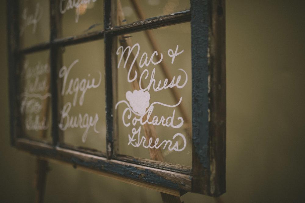 cylburn arboretum baltimore wedding menu on glass window.jpg