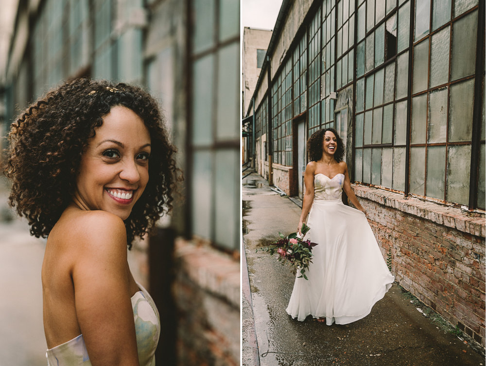 clipton mill baltimore industrial bride portrait wedding photographer .jpg