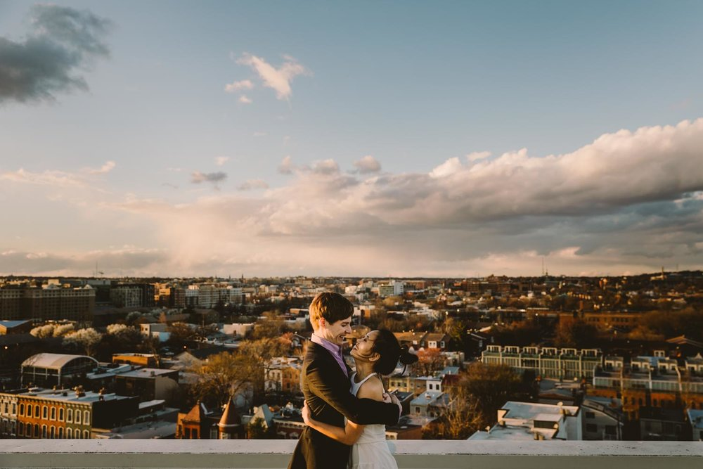 Washington DC Baltimore NYC rooftop engagement Photographer.jpg