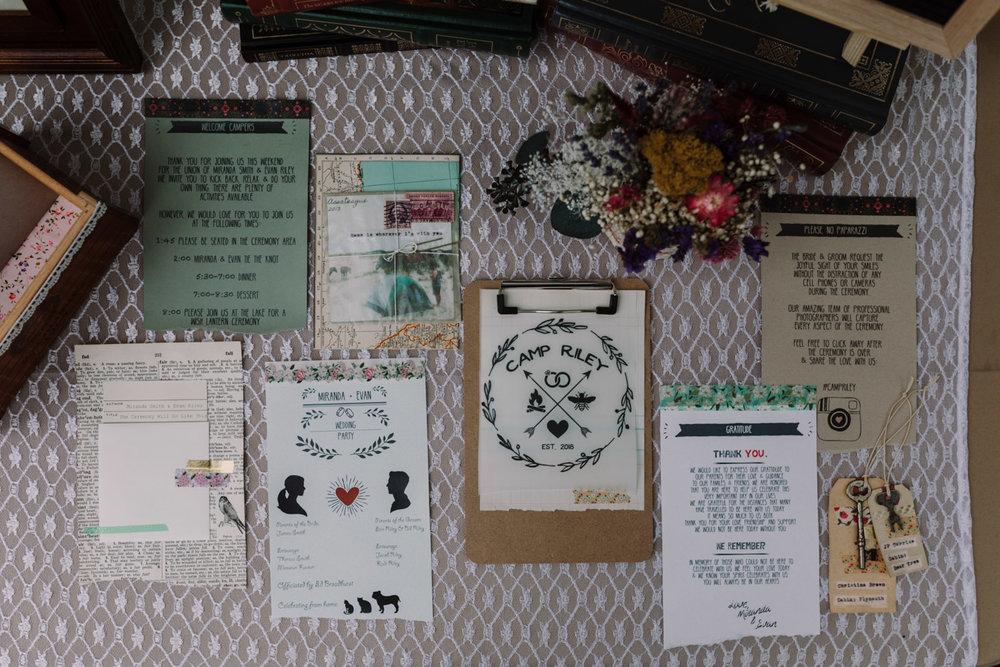 barbara O photography dc md camp wedding photographer diy welcome booklet.jpg