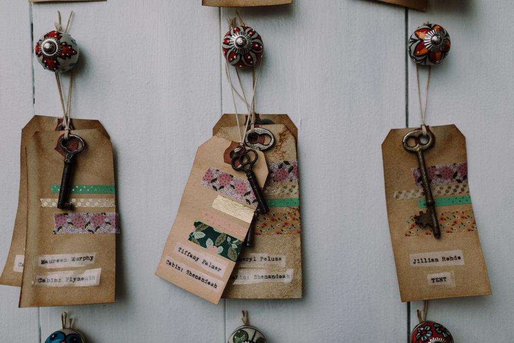 barbara O photography dc md camp west war wedding photographer key name tags.jpg
