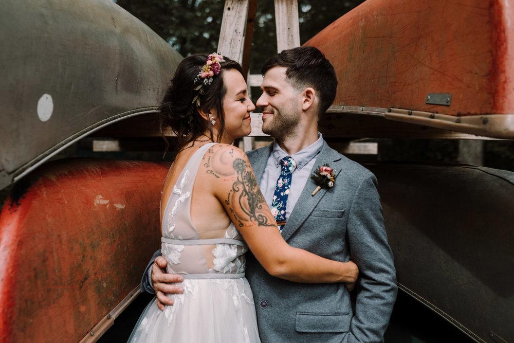 barbara O photography dc md camp west war wedding photographer canoes bride and groom.jpg