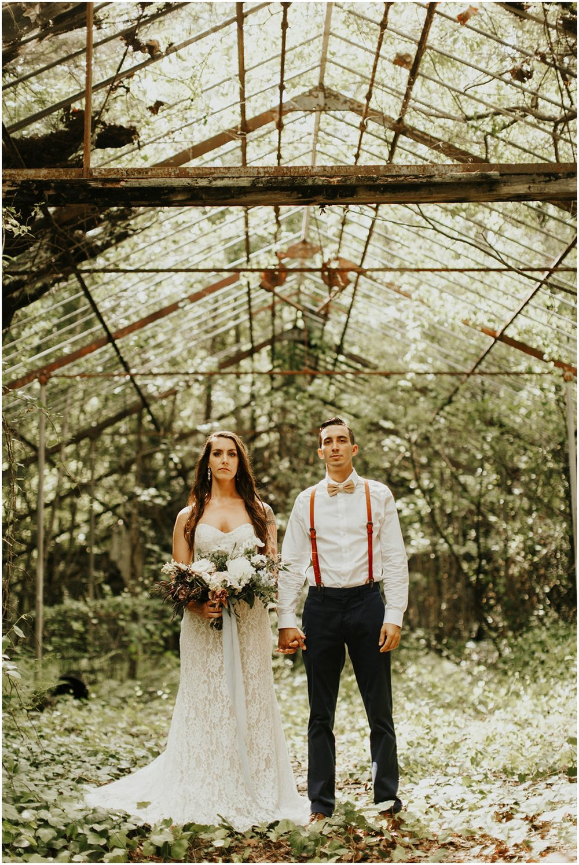 bride and groom before their Jacksonville wedding