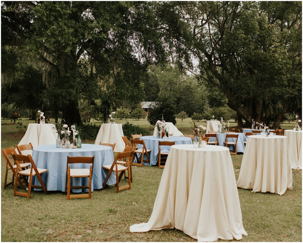 Outdoor wedding reception in Jacksonville