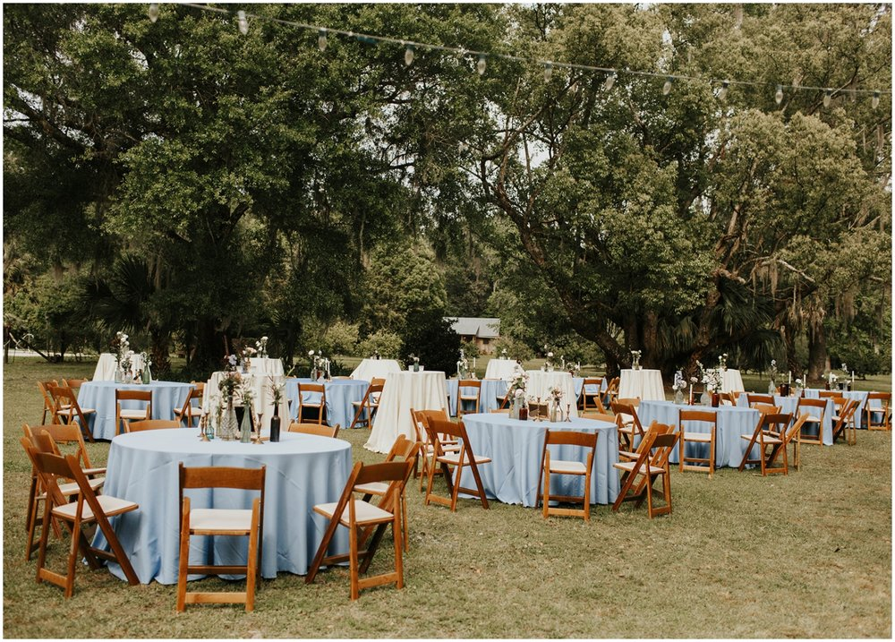Wedding Reception outdoors