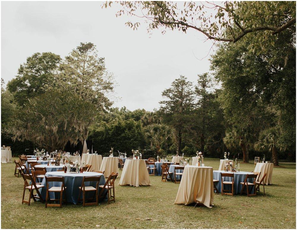 Outdoor wedding reception at The Glen Venue