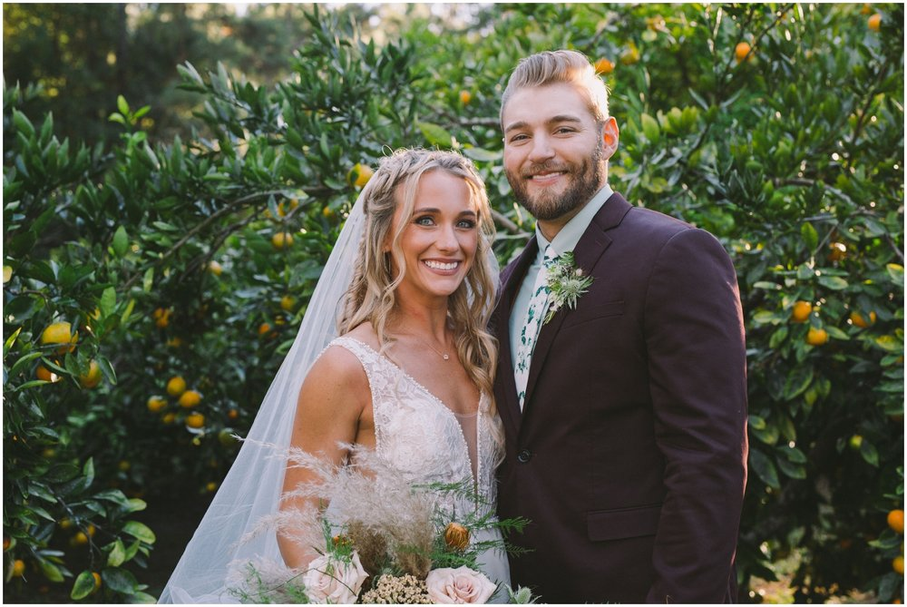 Bride and groom at their Jax wedding