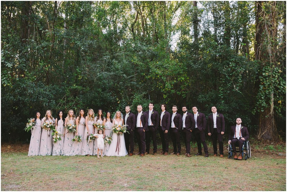 Bridal Party at the Glen Venue