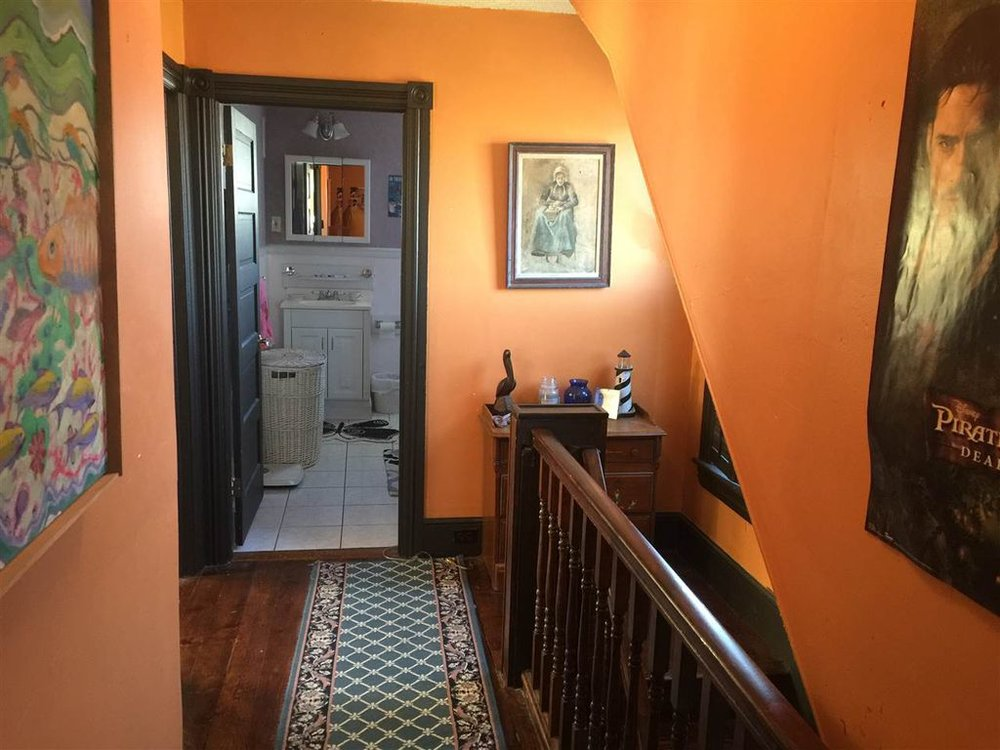 I was impressed with the original woodwork and molding.