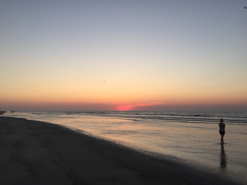 Wildwood's beach at sunrise.