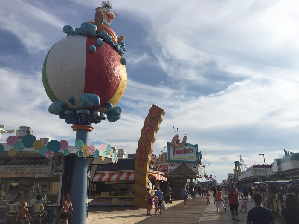 "Wildwood boardwalk featuring some of the Morey's properties. The Morey's family ""gets"" the vibe of Wildwood and they are one of the more important forces in keeping the spirit of Wildwood alive."