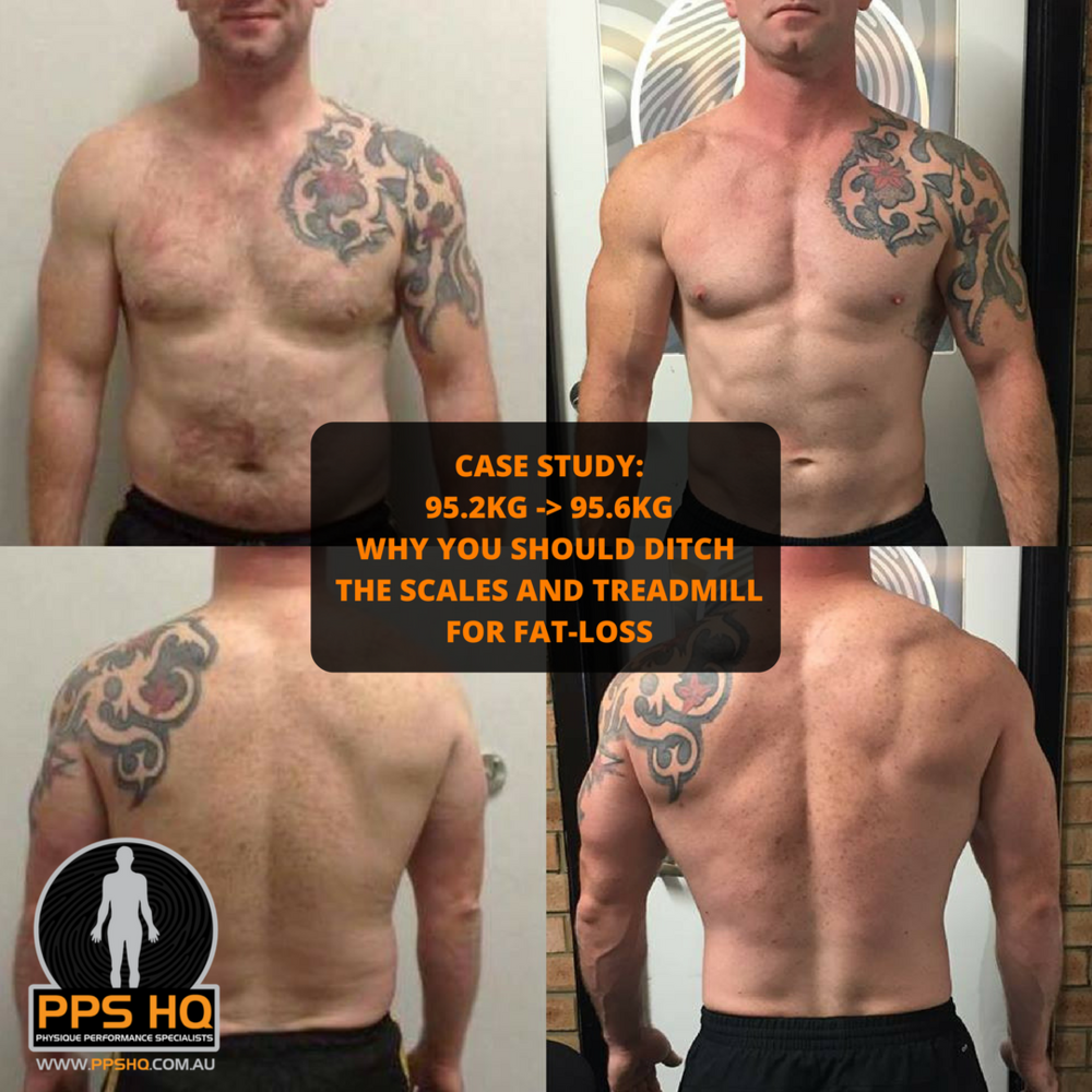 Patrick was a classic example of Body Recomposition - Almost the same body-weight but a very different physique