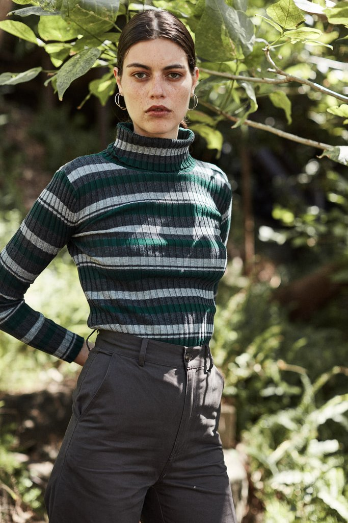 Things We Lost - Striped Cotton Turtle Neck