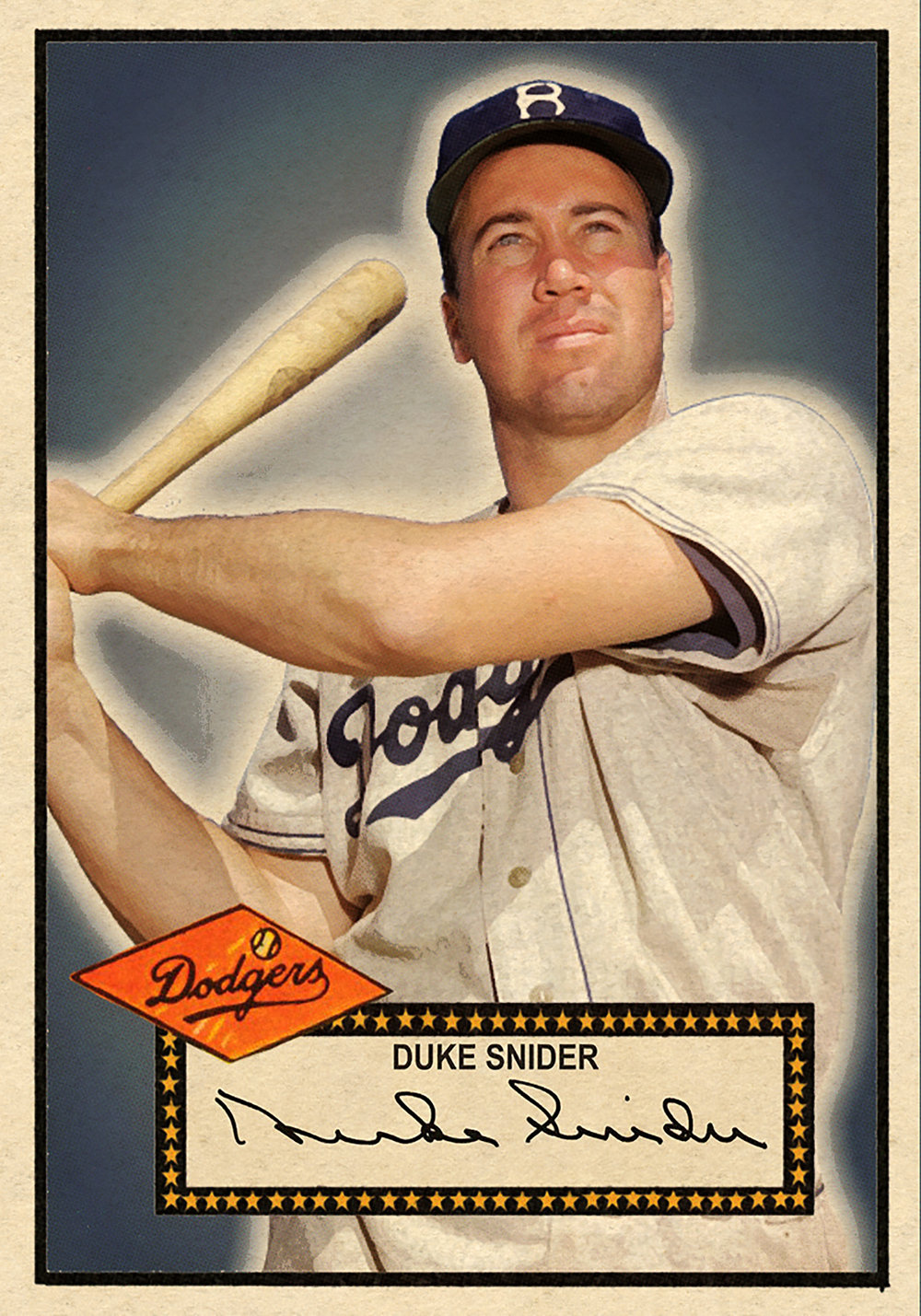 1952 BASEBALL STARS SERIES #100 DUKE SNIDER 3/6/17 Auction Closes at $293.00 USD - Current Poulation of 1
