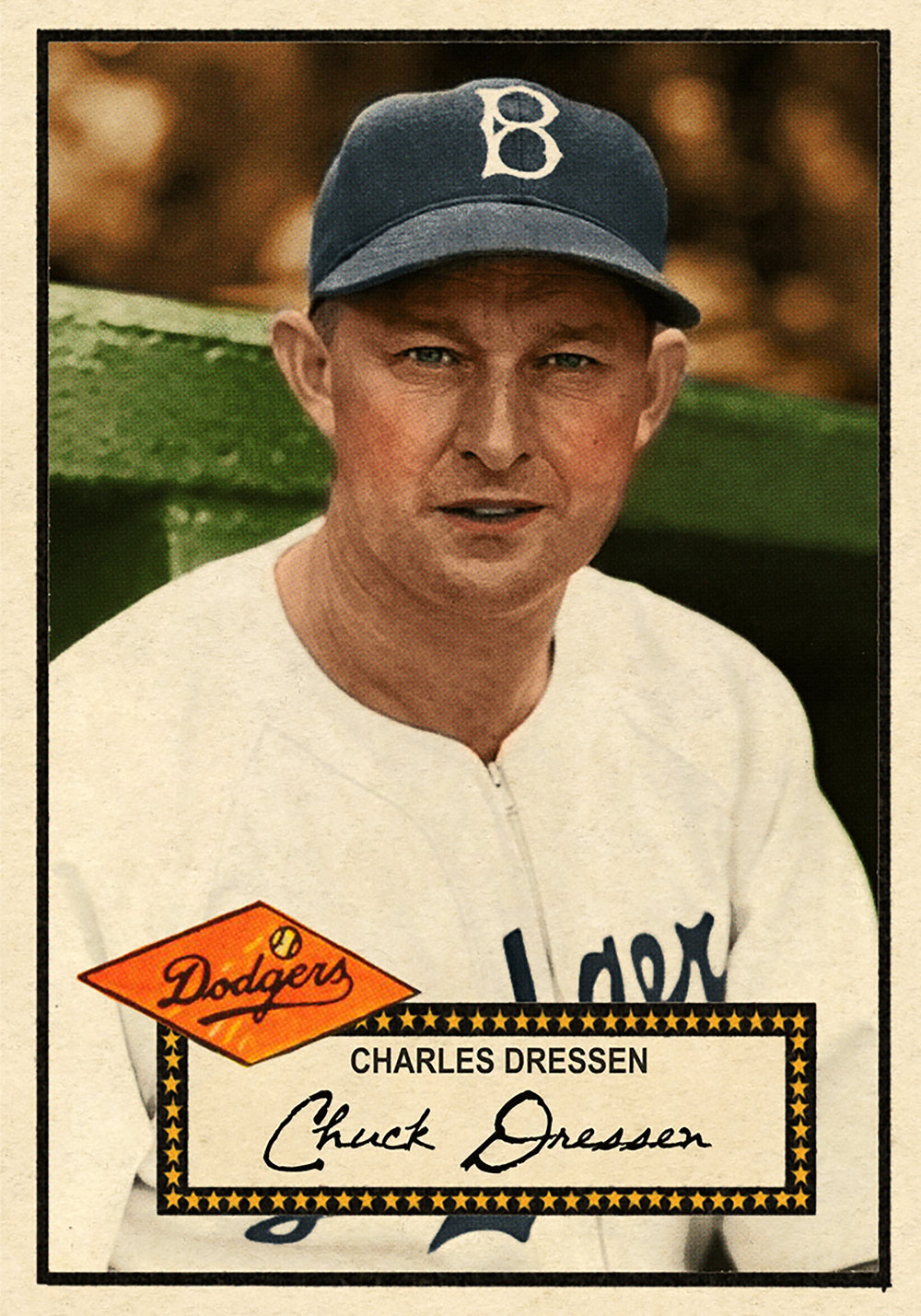 1952 BASEBALL STARS SERIES #190 CHARLES DRESSEN 3/6/17 Auction Closes at $135.50 USD - Current Poulation of 1