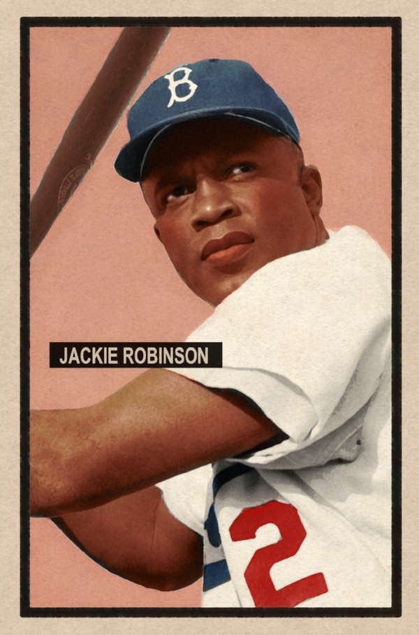 1951 BANTY RED BASEBALL STARS #42 JACKIE ROBINSON 5/15/17 Auction Closes at $190.35 USD - Current Population of 1