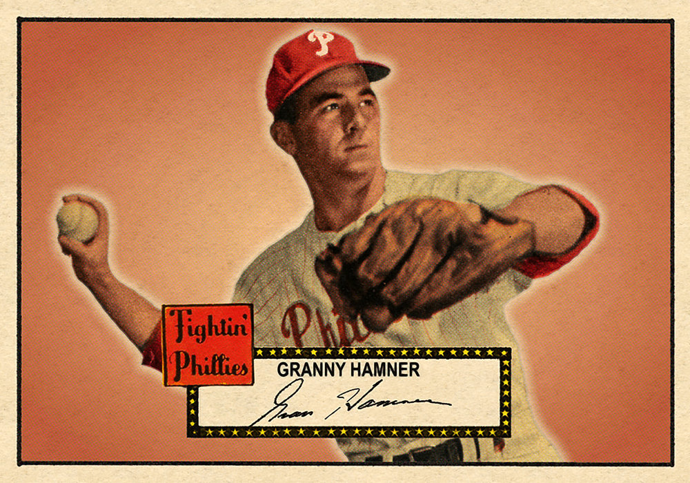 1952 BANTY RED BASEBALL STARS #265 GRANNY HAMNER 10/23/17 Auction Closes 109.35 USD - Current Population 1