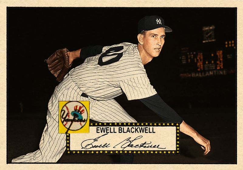 1952 BASEBALL STARS SERIES #306 EWELL BLACKWELL (NYY) 11/20/17 Auction Closes at 100.99 USD - Current Population of 2