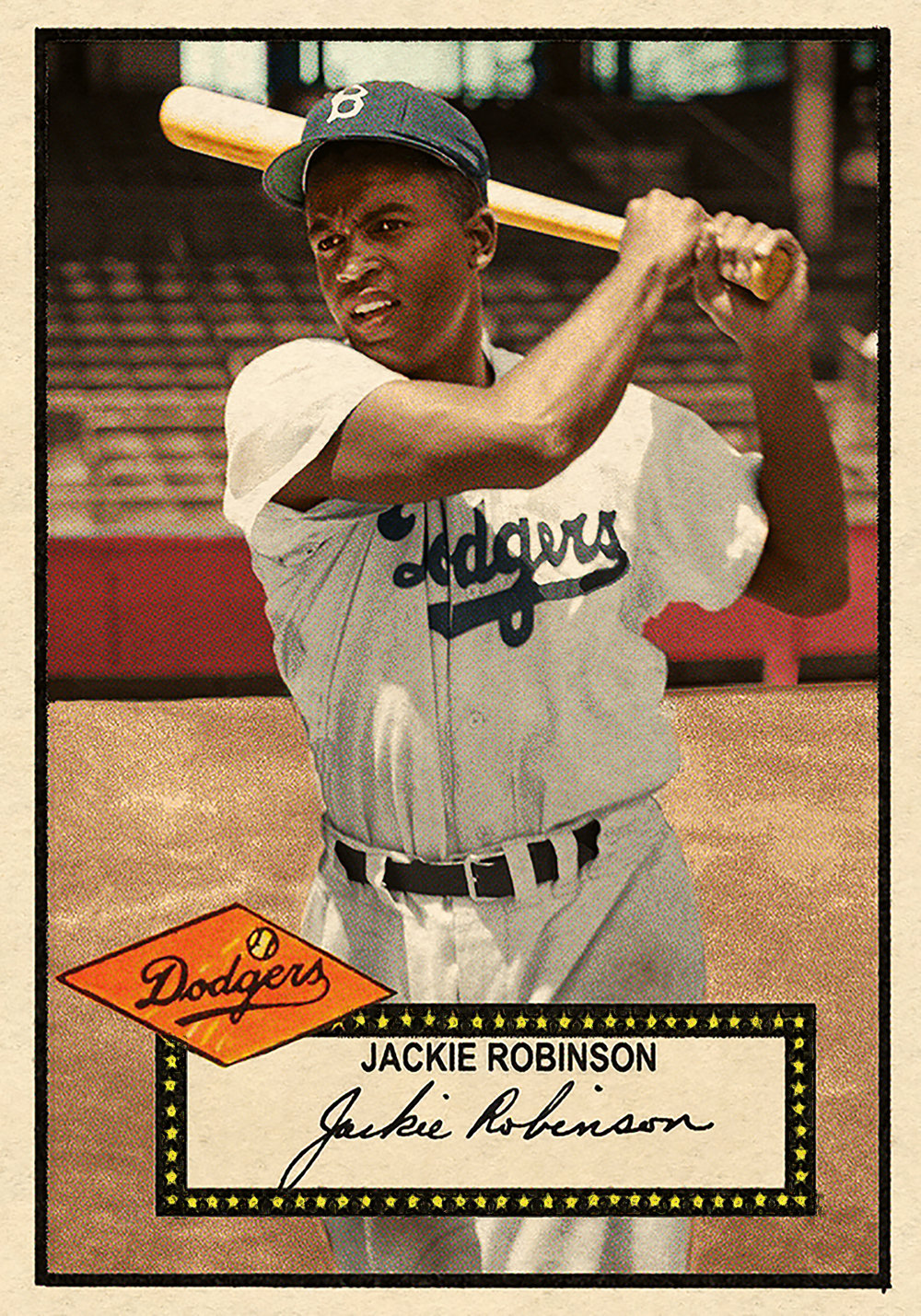 '52 Baseball #296 Jackie Robinson HI# - One of our favorites of all time. No detail was spared in creating this gem.SOLD 320.00 USD, December 2018