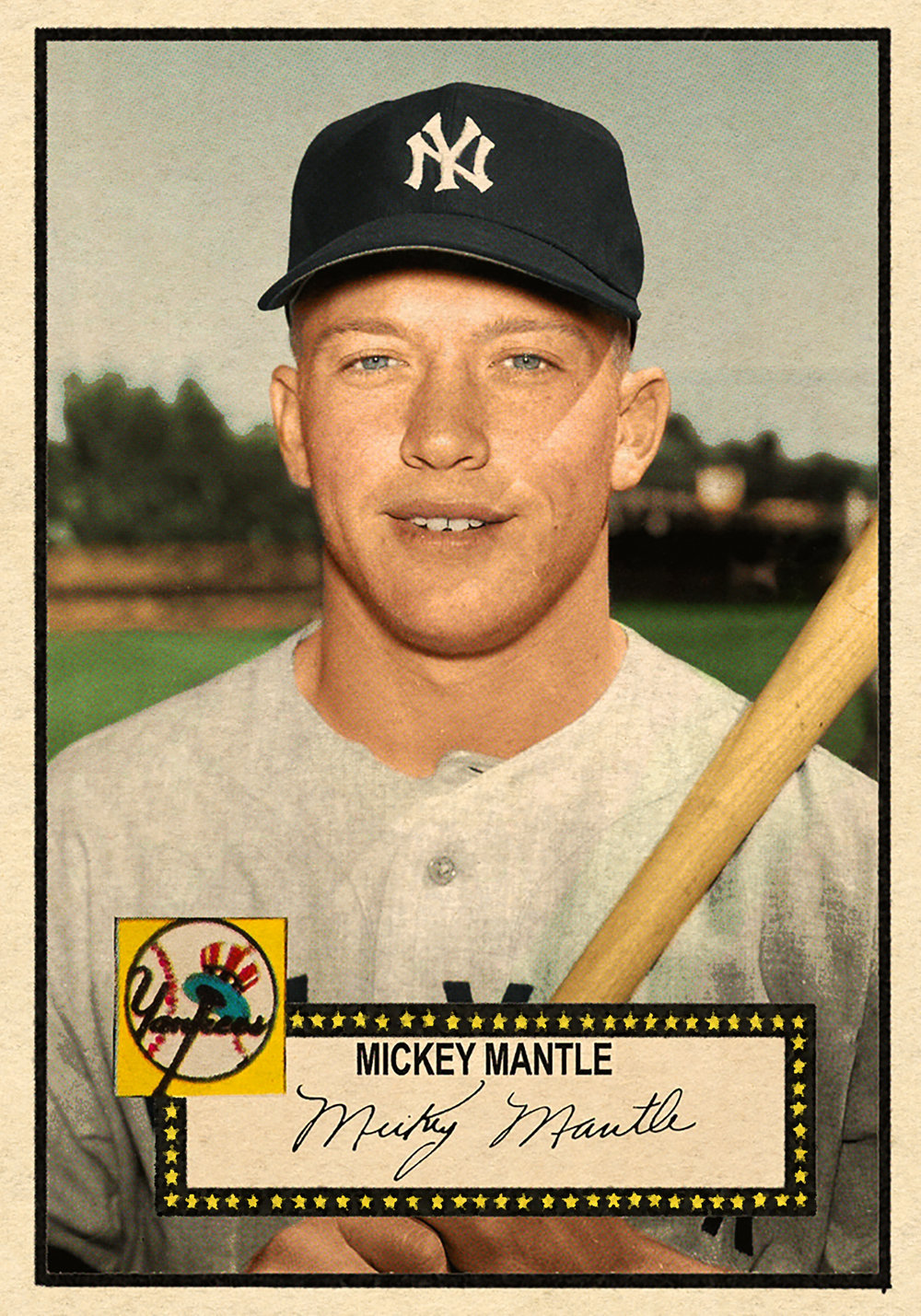 '52 Baseball #223 MICKEY MANTLE HI# - Card is highlighted with Mick's