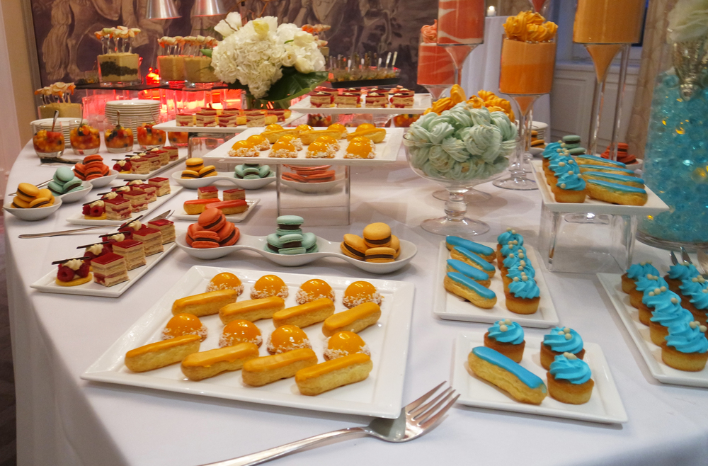 The sweets table at the evening event