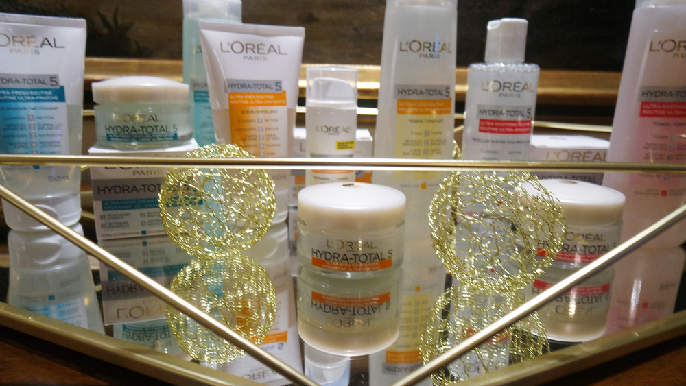 The entire Hydra-Total 5 skin care line