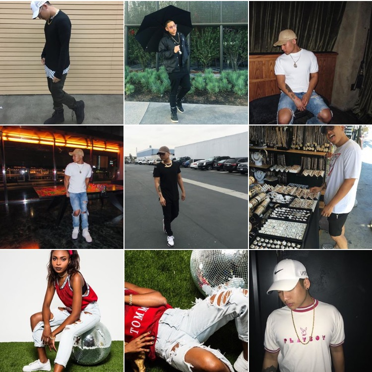 Brandon Quay 's Instagram has always been lit. This grid is from Fall 2016.