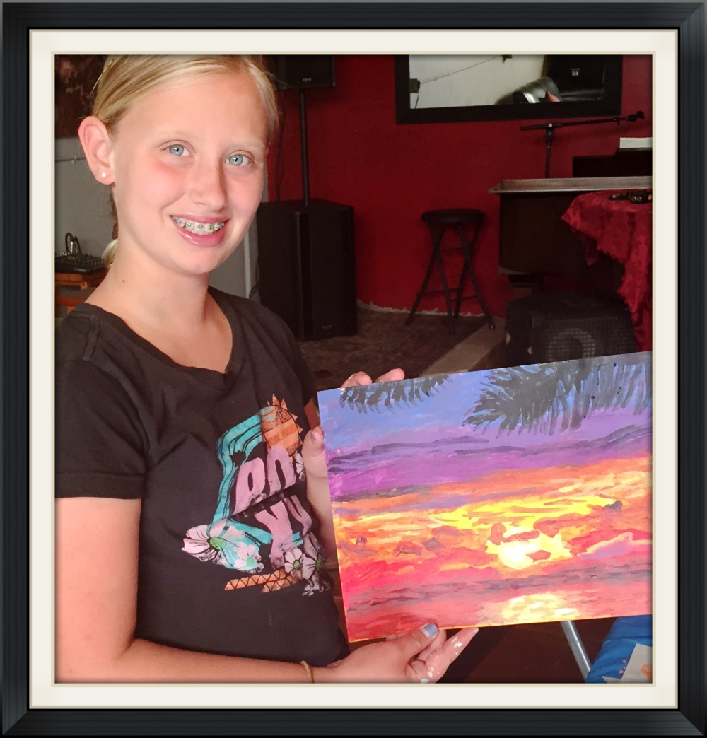 girl-pretty-painted-sunset