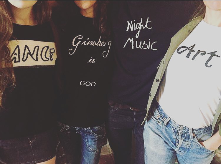 On Fridays we wear @bella_freud ✌🏼️ #dance #ginsbergisgod #nightmusic #art #bellafreud 📷@zoecassavetes